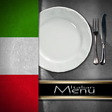 Italian Restaurant Menu Design