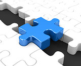 the blue puzzle piece