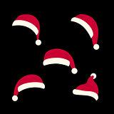 Santas hats set