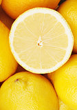 Lemon closeup background
