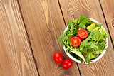 Healthy salad with tomatoes