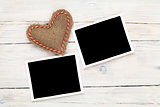 Photo frames and valentines toy heart