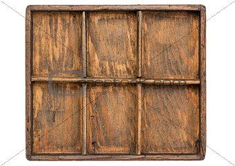 old primitive typesetter case