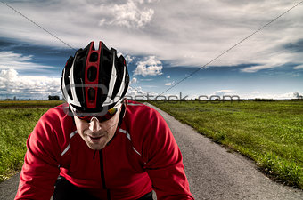 Cyclist on the road