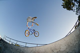 BMX Bike Stunt tail whip