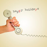 happy holidays on the phone