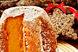 pandoro, typical Italian sweet bread for Christmas time