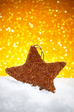 christmas star on the snow
