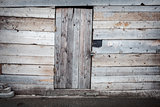 Old wooden plank door