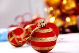 Christmas ball against light background