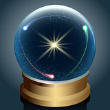 Crystal ball with universe inside