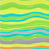 Colorful striped wave background