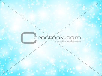 Abstract blue bokeh christmas background