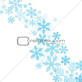 Abstract blue christmas snowflakes