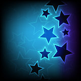 Abstract glowing stars background
