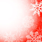 Abstract red christmas snowflakes background