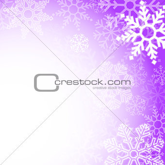 Abstract purple christmas snowflakes background