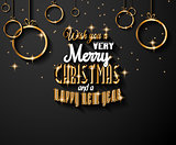 New Year and Happy Christmas background for your flyers