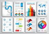 Set of Flyer Design, Web Templates. Brochure Designs, Infographics  Backgrounds