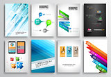 Set of Flyer Design, Web Templates. Brochure Designs,