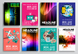 Set of Flyer Design, Flat User Interface. Brochure Designs