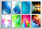 Set of Abstract modern backgrunds for flyer and  brochure design