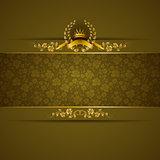 Elegant golden frame banner