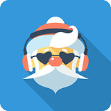 Santa Claus Face icon flat design