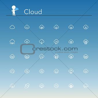 Cloud Line Icons