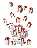 Shopping cart and gifts