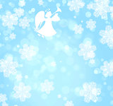 Christmas background with angel