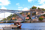 Bridge Maria Pia on Douro river, Porto, Portugal