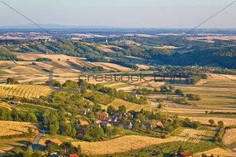 Agricultural green landscape od Prigorje region