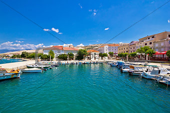 Pag island colorful waterfront view