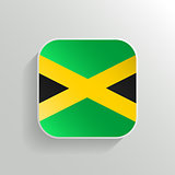 Vector Button - Jamaica Flag Icon on White Background