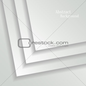Abstract White Vector Background with Paper Layers