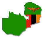Map and flag of Zambia