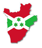 Map and flag of Burundi