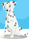 dalmatian dog cartoon illustration
