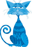 blue cat character cartoon illustration