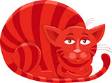 red cat character cartoon illustration