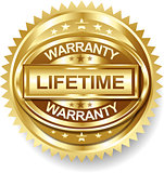 Vector Lifetime Golden warranty label tag