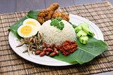 nasi lemak, malaysian cuisine