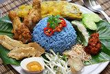 Nasi kerabu, rice salad, malay cuisine, kelantanese cuisine