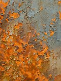 Chipped Rusty Metal Wall