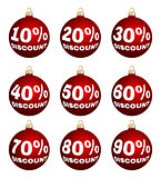 vector christmas or new year discount labels