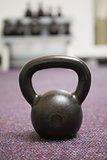 Close up of a kettle bell in gym