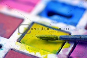 paintbox close-up