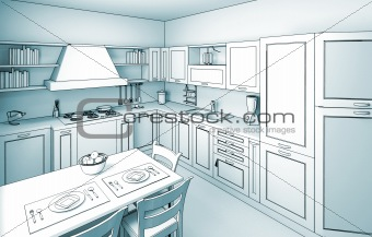kitchen cartoon style