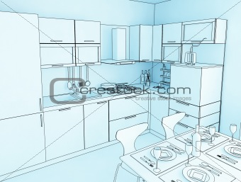 kitchen cartoon style